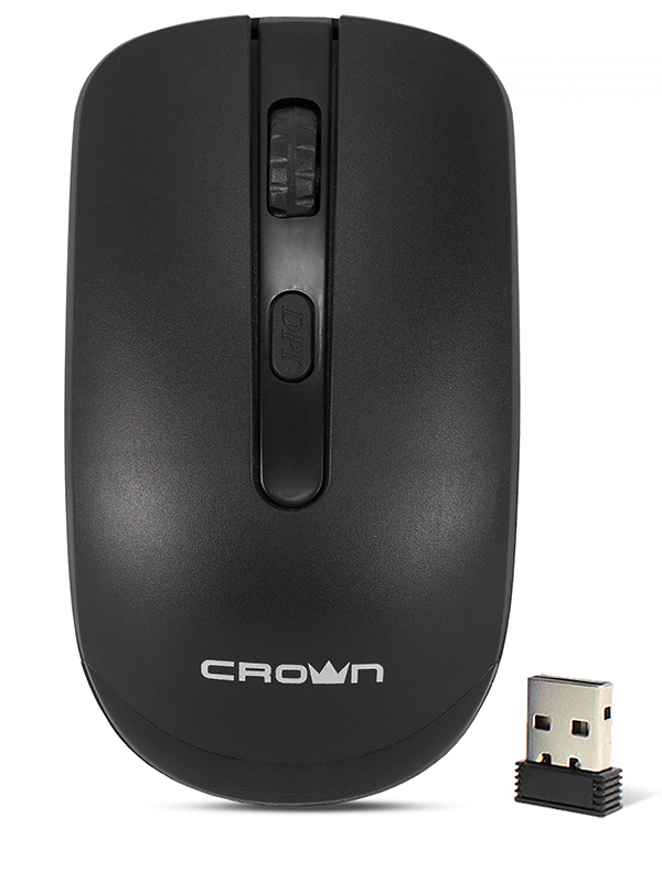 Мышь CROWN MICRO CMM-336W Black USB