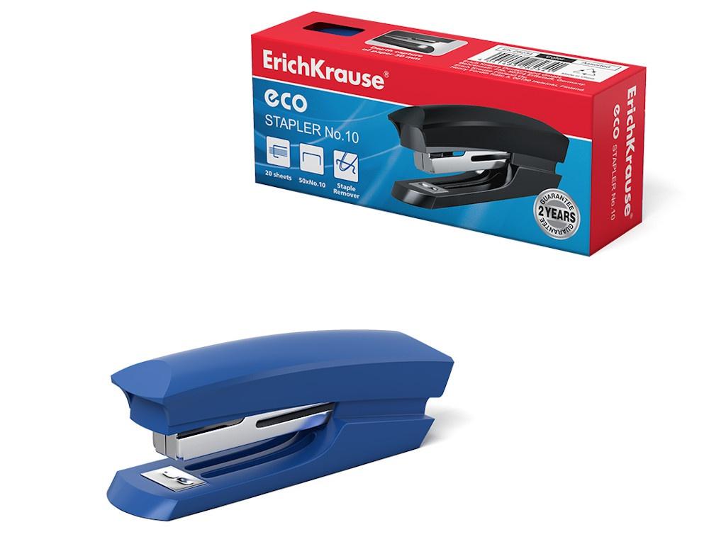 Степлер ErichKrause №10 Eco с антистеплером 28234