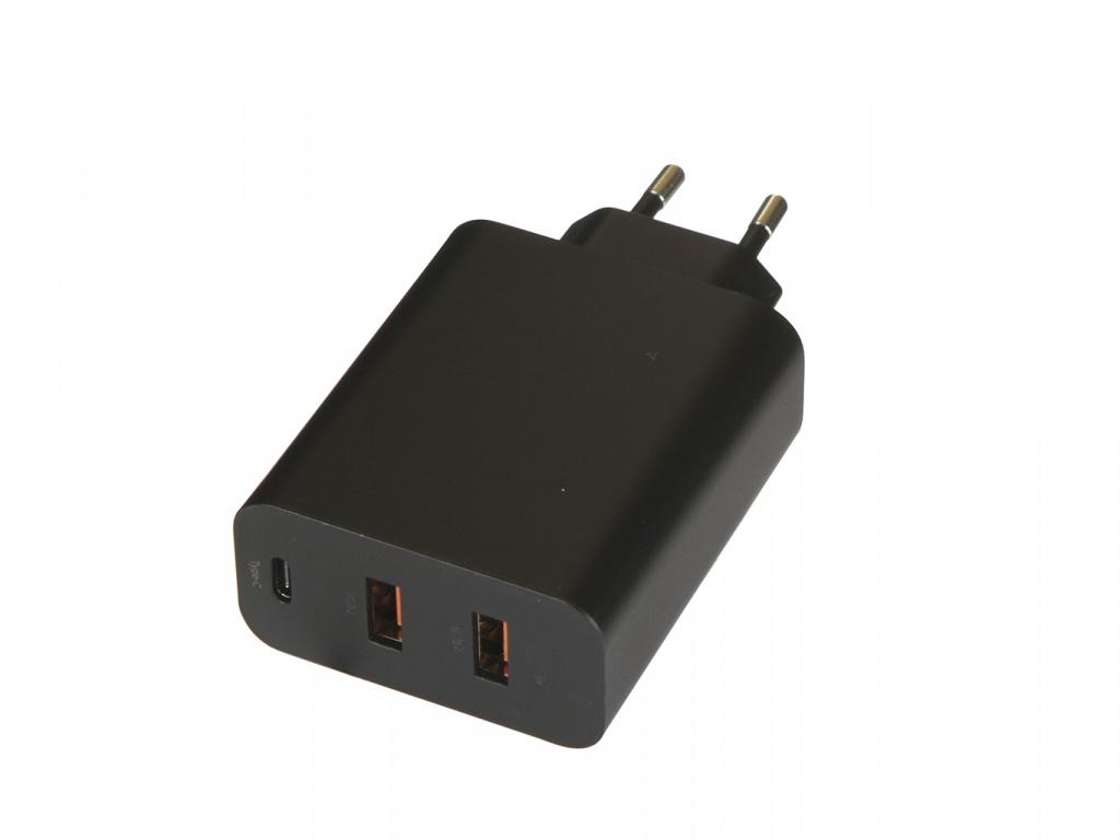 Зарядное устройство Baseus PPS Three Output Quick Charger 60W 2xUSB + Type-C EU Black CCFS-G01 [cheneng]mean well original pps 200 27 27v 7 4a meanwell pps 200 27v 199 8w single output with pfc function