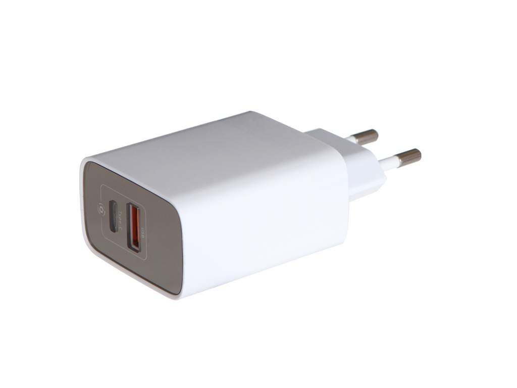 Зарядное устройство Baseus Mirror Lake PPS Digital Display Quick Charger USB + Type-C EU White CCJMHC-A02