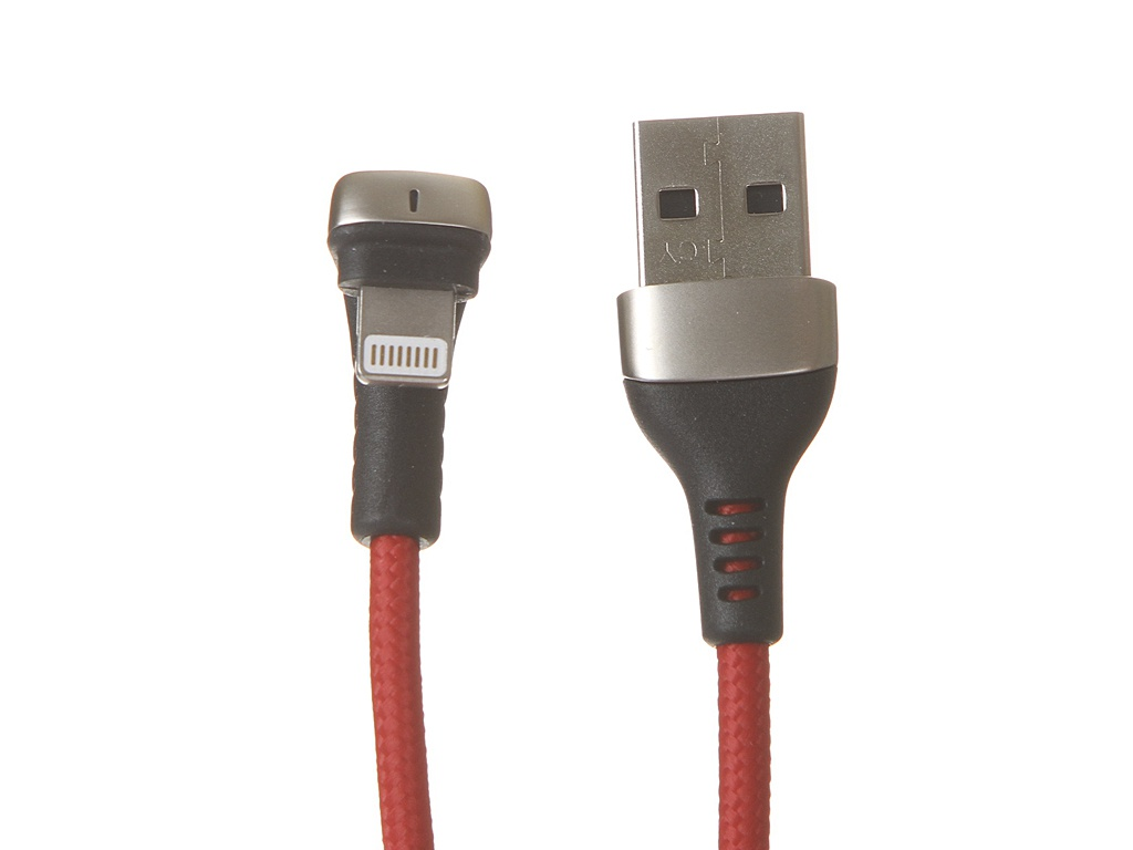 Аксессуар Baseus Green U-Shaped Lamp Mobile Game Cable USB - Lightning 2.4A 1m Red CALUX-A09