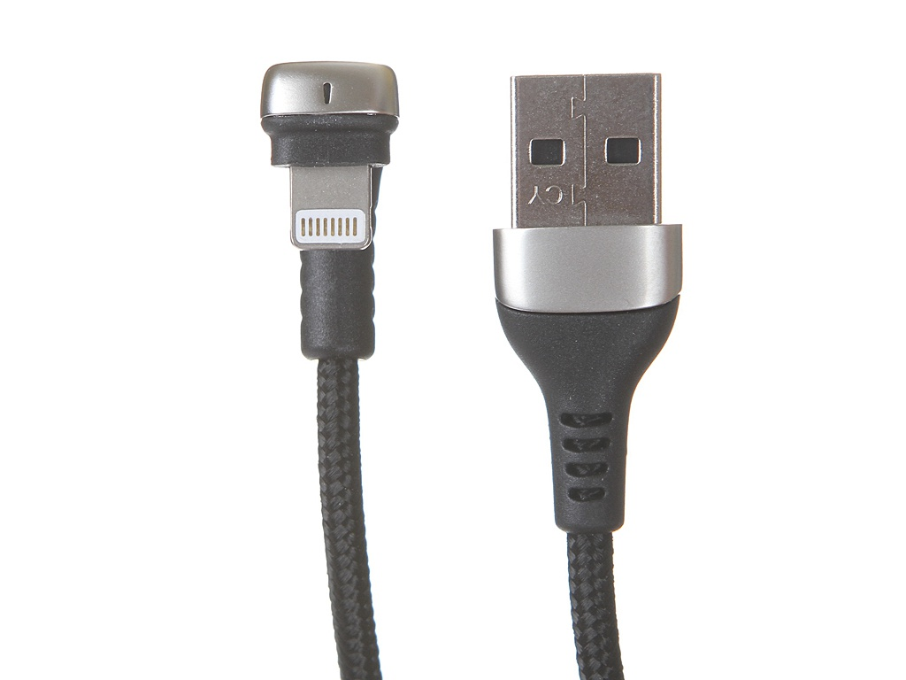 Аксессуар Baseus Green U-Shaped Lamp Mobile Game Cable USB - Lightning 2.4A 1m Black CALUX-A01