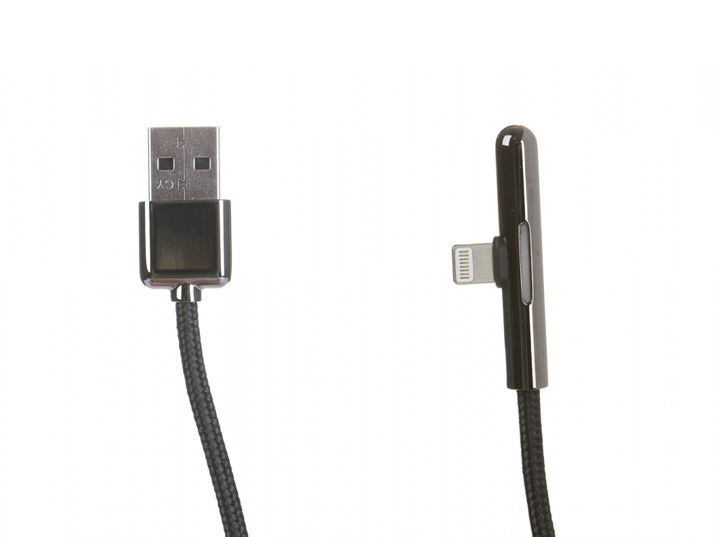 Аксессуар Baseus Iridescent Lamp Mobile Game Cable USB - Lightning 2.4A 1m Black CAL7C-A01