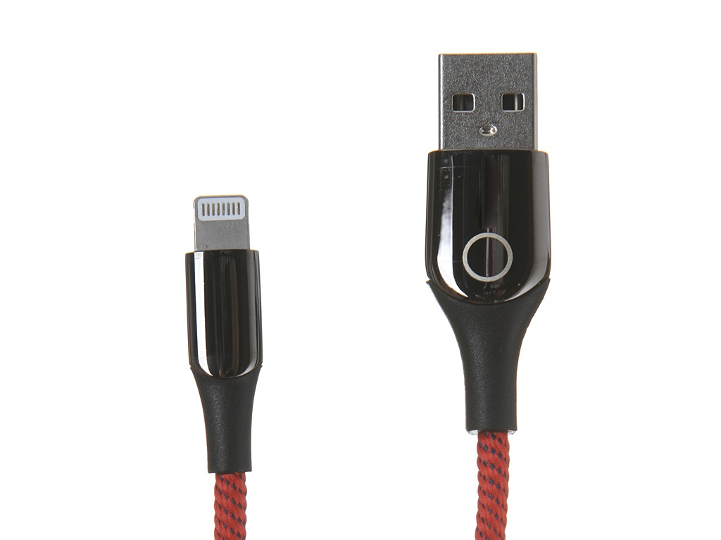 Аксессуар Baseus C-Shaped Light Intelligent Power-Off Cable Lightning 1m Red CALCD-09