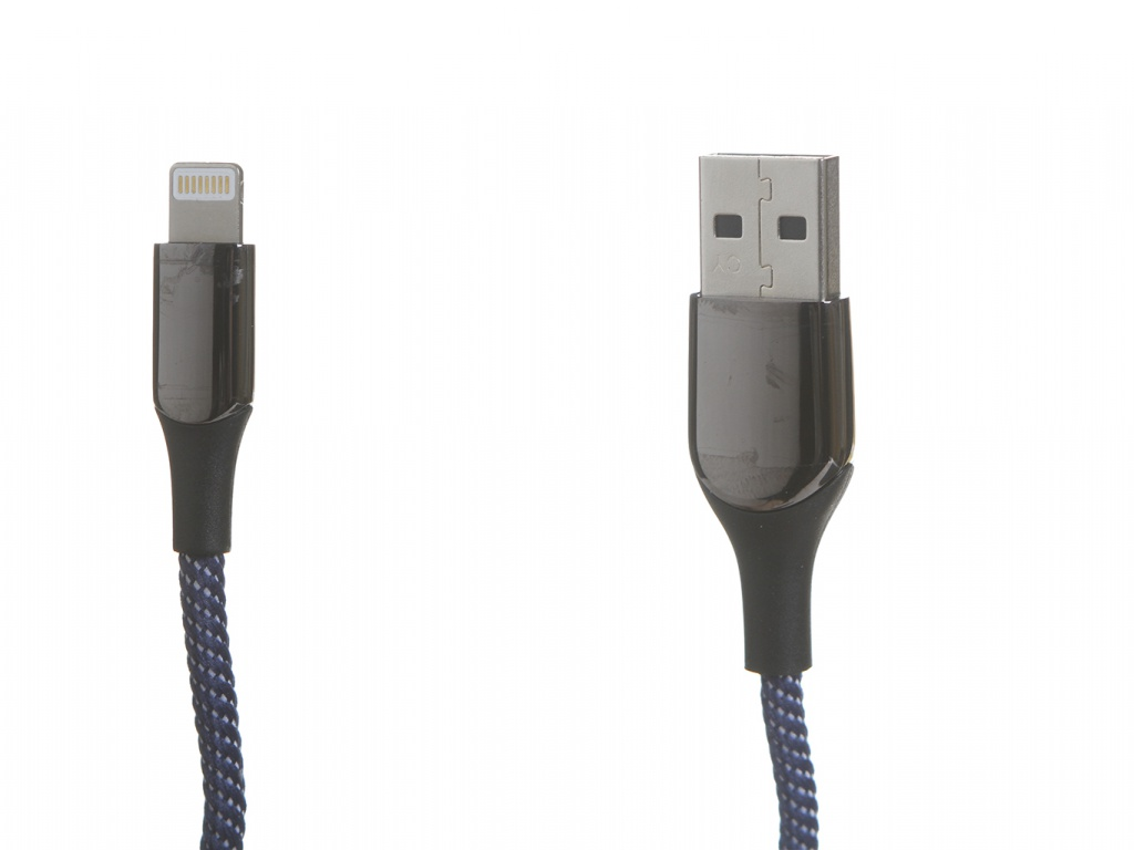 Фото - Аксессуар Baseus C-Shaped Light Intelligent Power-Off Cable Lightning 1m Blue CALCD-03 аксессуар