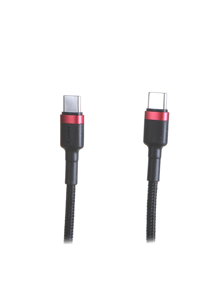 Аксессуар Baseus Cafule PD2.0 60W Flash Charging USB - Type-C 1m Red-Black CATKLF-G91