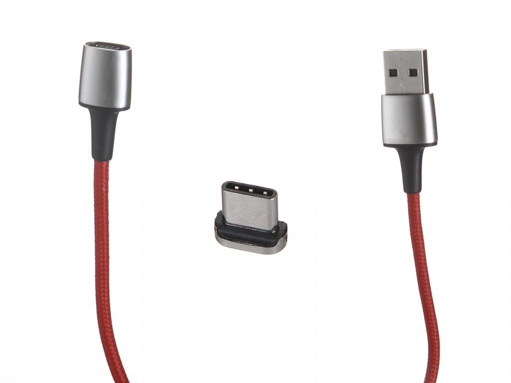 Фото - Аксессуар Baseus Zinc Magnetic Cable USB - Type-C 2A 2m Red CATXC-B09 jup1 50 sets blacke magnetic elastic shoes buckles decorative buckles child adult closures no tie shoelaces never tie lace again