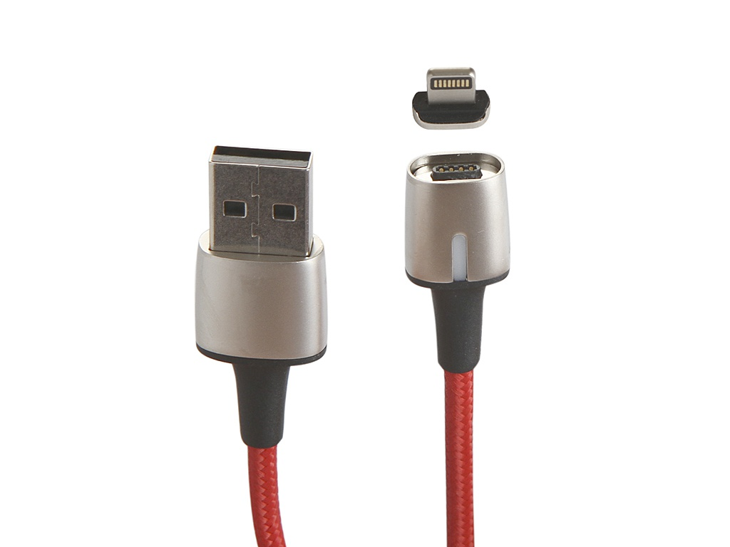 Аксессуар Baseus Zinc Magnetic Cable USB - Lightning 2.4A 1m Red CALXC-A09