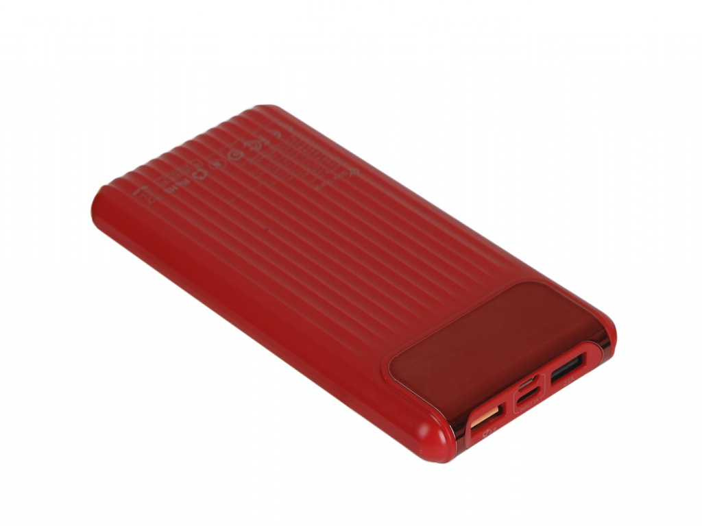 Внешний аккумулятор Baseus Power Bank Thin Daul Input Digital Display 10000mAh Red PPYZ-C09