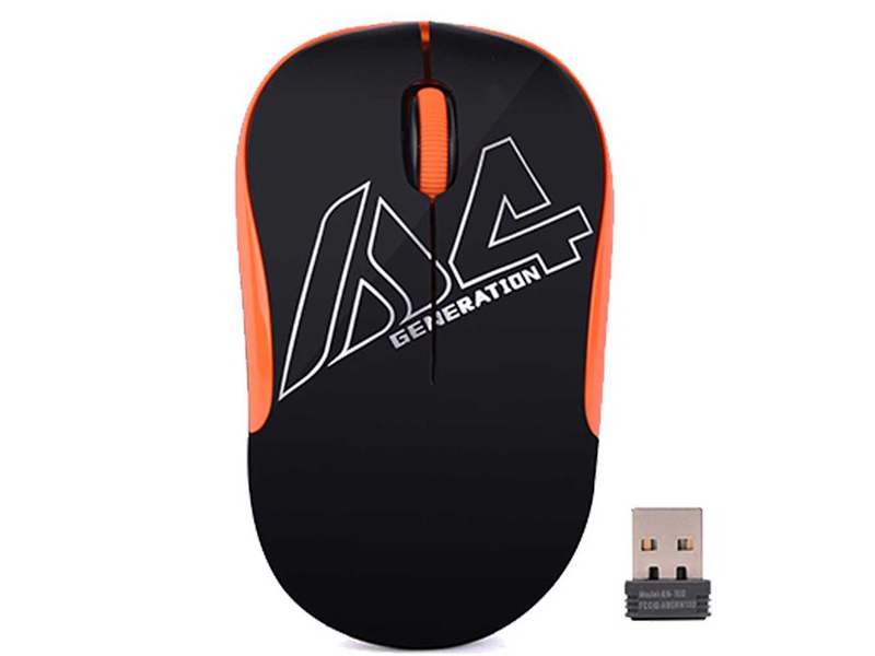 Мышь A4Tech V-Track G3-300N Black-Orange