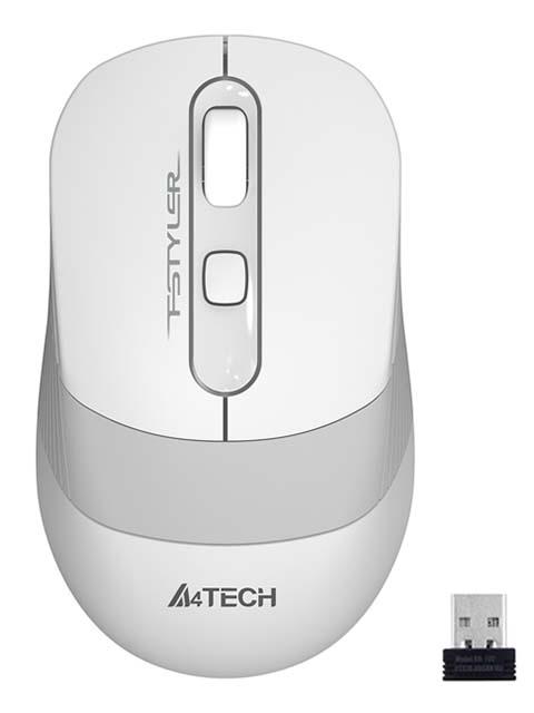 Мышь A4Tech Fstyler FG10 White-Grey мышь a4tech fstyler fg30 grey orange