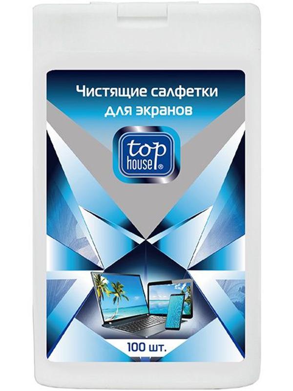Чистящие салфетки для экранов Top House 100шт 4660003393309