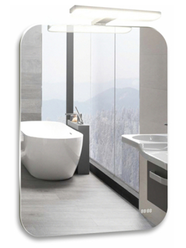 Зеркало Mixline Агат-4 550x800mm навесной светильник выключатель-датчик на движение + часы 539783