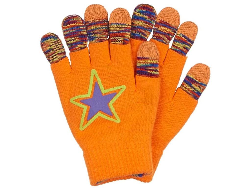 Теплые перчатки для сенсорных дисплеев Territory р.UNI Orange 1713