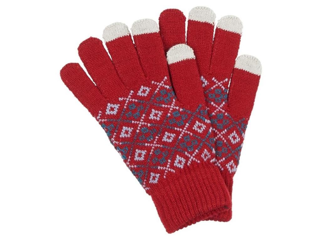 Теплые перчатки для сенсорных дисплеев Territory р.UNI Red 1114