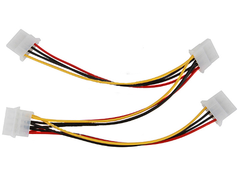 Аксессуар Разветвитель-переходник питания Espada 4-pin to 3/4-pin E4pinM-3x4pinF для вентилятора