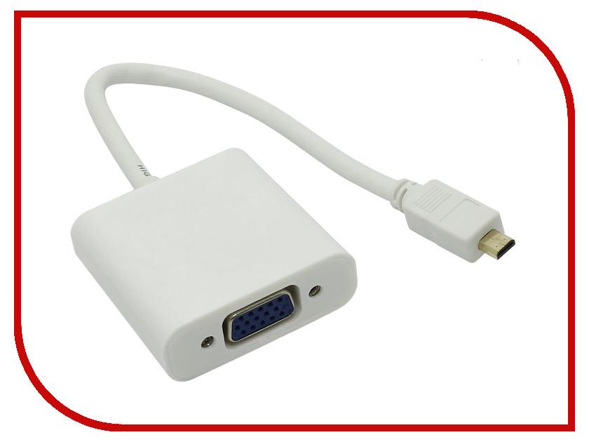 Аксессуар Espada micro HDMI 19M to VGA 15F EMcHDMI M-VGA F20 переходник micro hdmi m vga f espada cg593