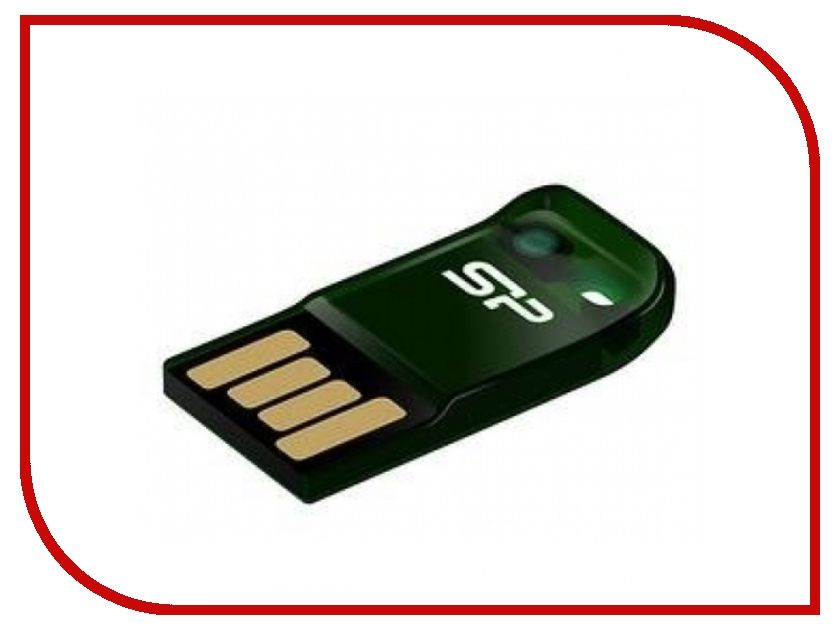 USB Flash Drive 8Gb - Silicon Power Touch T02 Green SP008GBUF2T02V1N