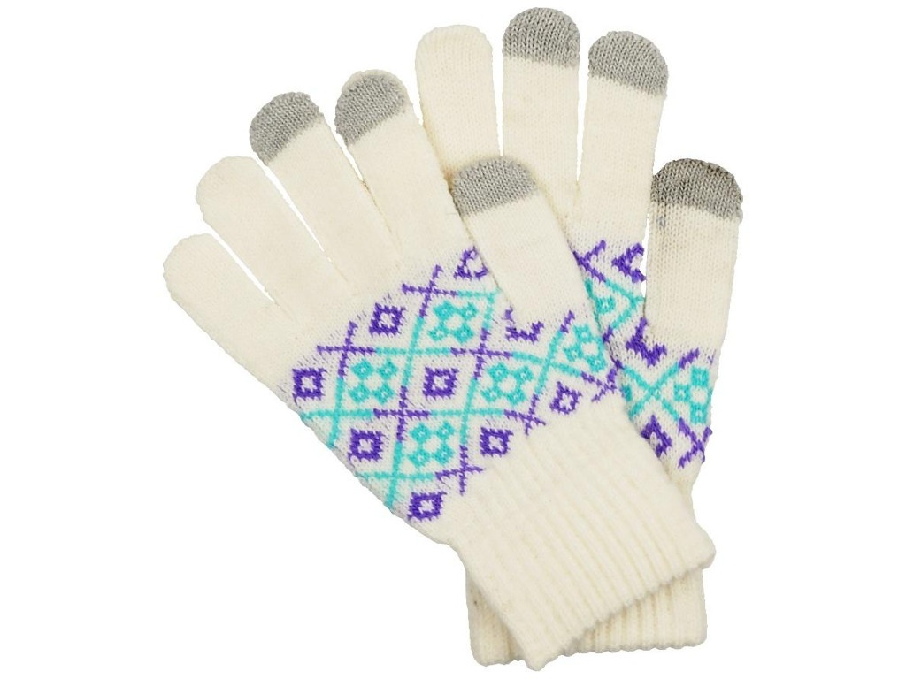 Теплые перчатки для сенсорных дисплеев Territory р.UNI White 0314 сланцы territory