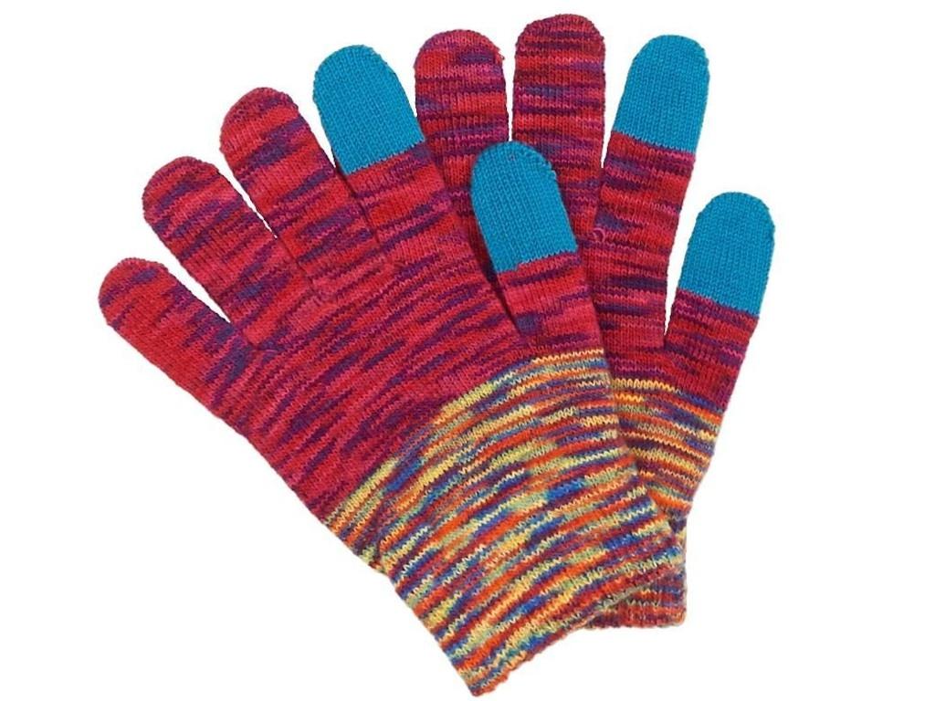 Теплые перчатки для сенсорных дисплеев Territory р.UNI Red 0213