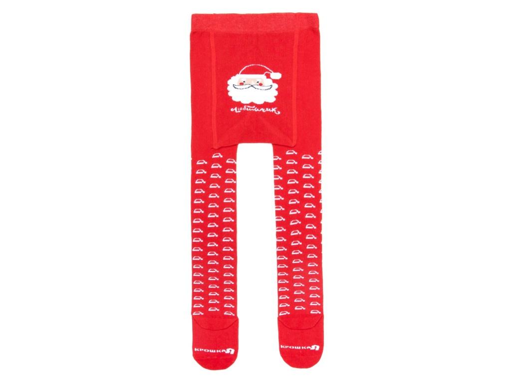 Колготки Крошка Я Любимчик Деда Мороза Рост 86-92cm Red 3566375