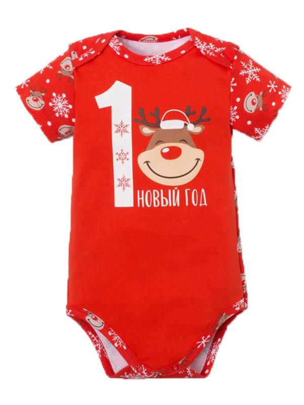 Боди Крошка Я Новогодний оленёнок Рост 74-80cm Red 4280940