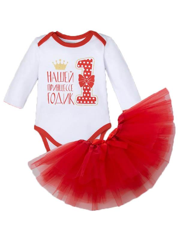 Набор Крошка Я Принцессе 1 год Рост 74-80cm White-Red 4239936