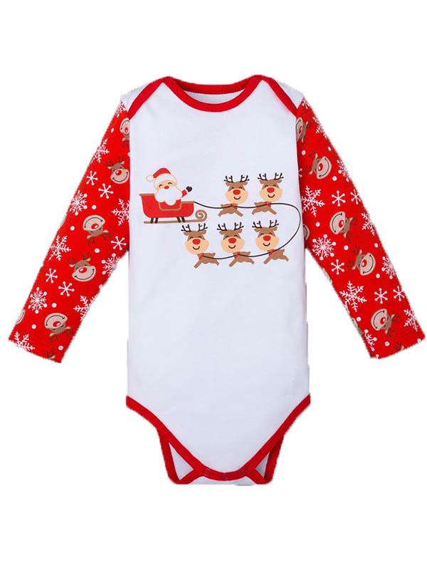 Боди Крошка Я Новогодний оленёнок Рост 68-74cm White-Red 4280943
