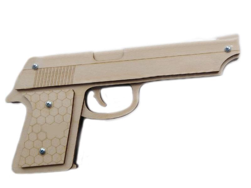цена на Сборная модель Нескучные игры Пистолет-резинкострел 8081