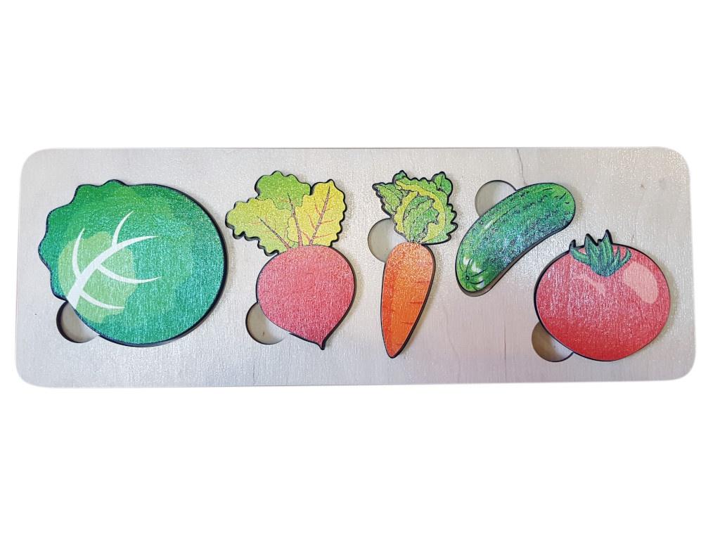Пазл Нескучные игры Овощи Дерево 29.5х10.5 7925