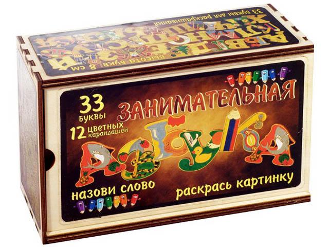 Пособие Набор Нескучные игры Занимательная азбука 33 буквы+карандаши 7841