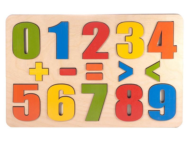 цена Сортер Развивающая доска Нескучные игры Разноцветные цифры 16 дет 7917 онлайн в 2017 году