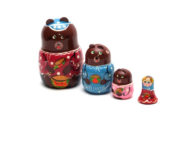Матрешка Нескучные игры Три медведя Р45/751