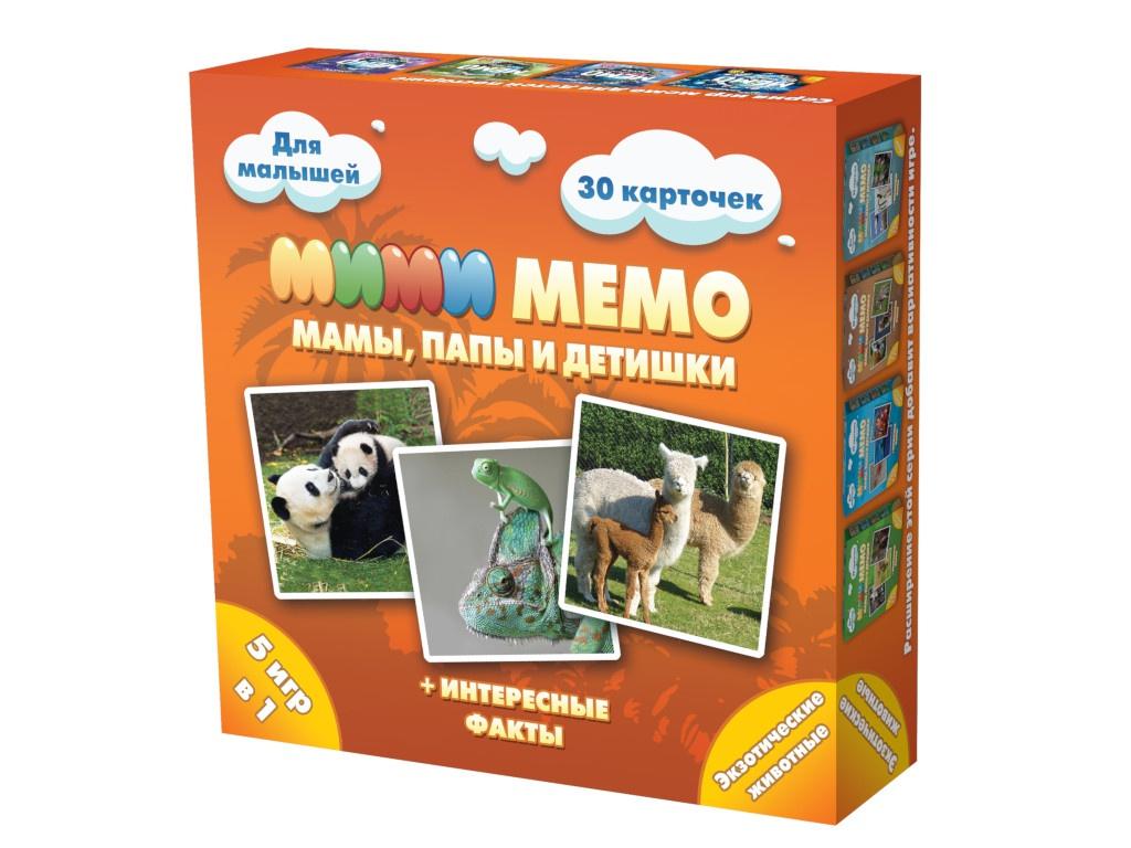Настольная игра Нескучные игры Ми-Ми-Мемо Экзотические животные 8064 фото