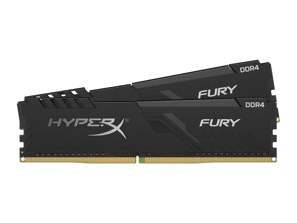 Модуль памяти Kingston HyperX Fury Black DDR4 DIMM 3466Mhz PC-27700 CL16 - 16Gb Kit (2x8Gb) HX434C16FB3K2/16 цена и фото