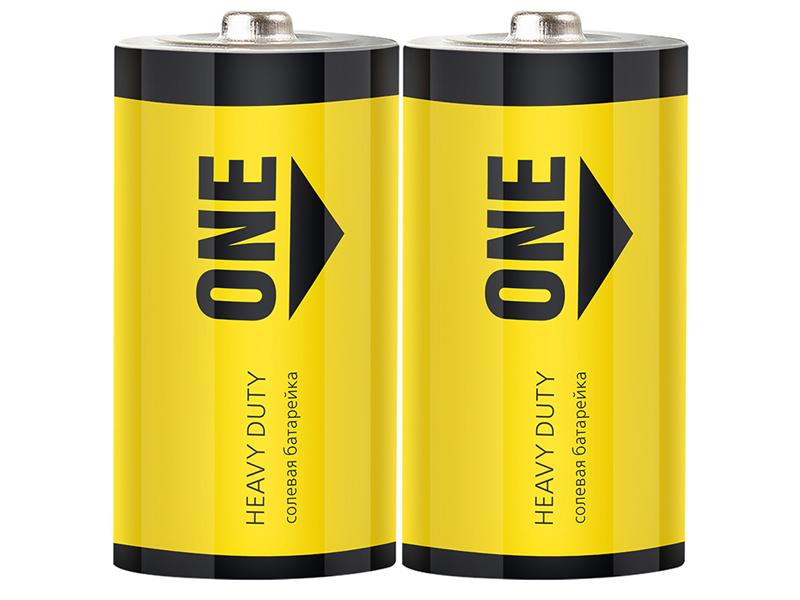 Батарейка D - SmartBuy One R20 SOBZ-D02S-Eco (2 штуки)