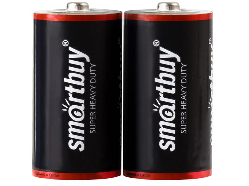 Батарейка D - SmartBuy R20 SBBZ-D02S (2 штуки) батарейка крона smartbuy 6f22 sbbz 9v01b