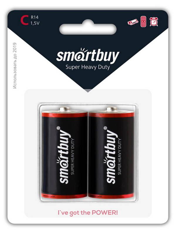Батарейка C - SmartBuy R14 SBBZ-C02B (2 штуки) цена 2017