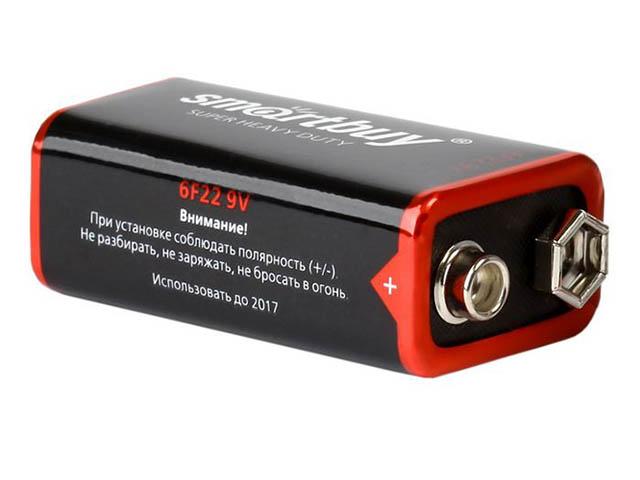 Батарейка КРОНА - SmartBuy 6F22 SBBZ-9V01B