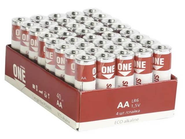 Фото - Батарейка AA - SmartBuy One LR6 SOBA-2A40S-Eco (40 штук) батарейка aaa smartbuy one lr03 soba 3a40s eco 40 штук