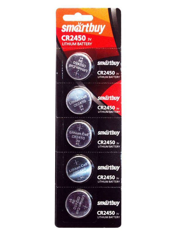 Батарейка CR2450 - SmartBuy SBBL-2450-5B (5 штук)