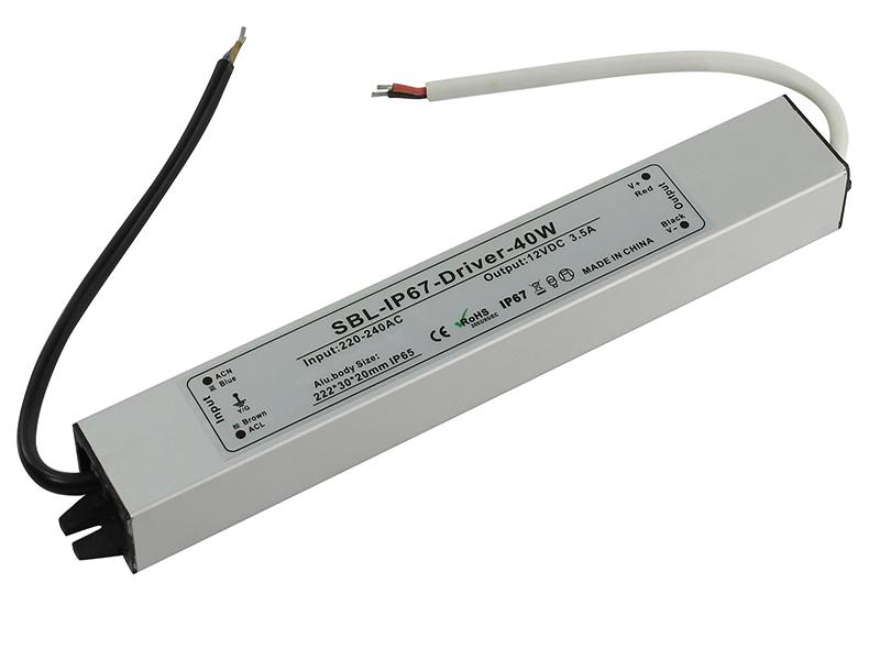 Блок питания SmartBuy SBL-IP67-Driver-40W для LED ленты IP67
