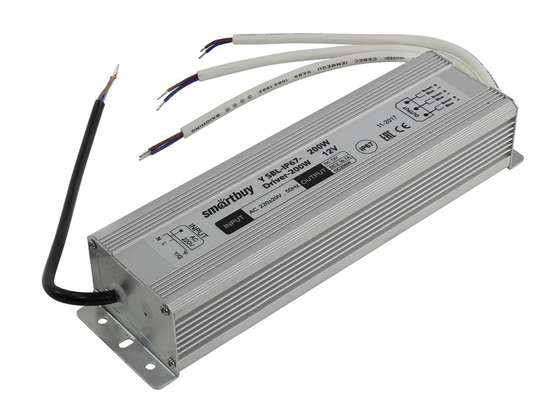 Блок питания SmartBuy SBL-IP67-Driver-200W для LED ленты IP67