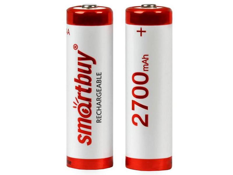 Аккумулятор AA - SmartBuy R6 NiMh 2700 mAh SBBR-2A02BL2700 (2 штуки)
