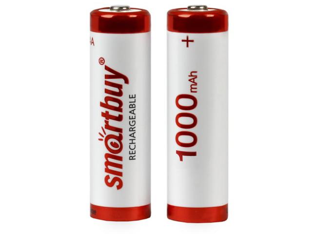 Аккумулятор AA - SmartBuy R6 NiMh 1000 mAh SBBR-2A02BL1000 (2 штуки) аккумуляторы smartbuy sbbr 2a02bl2500 2500 mah aa 2 шт