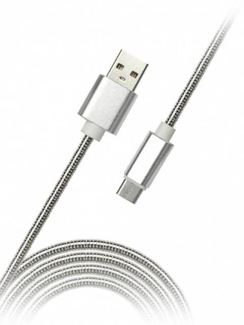 Аксессуар SmartBuy USB - microUSB 1.2m Silver iK-12silver met
