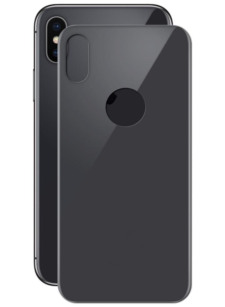 Аксессуар Защитное стекло SmartBuy для задней панели APPLE iPhone X 10D Black SBTG-3D0032