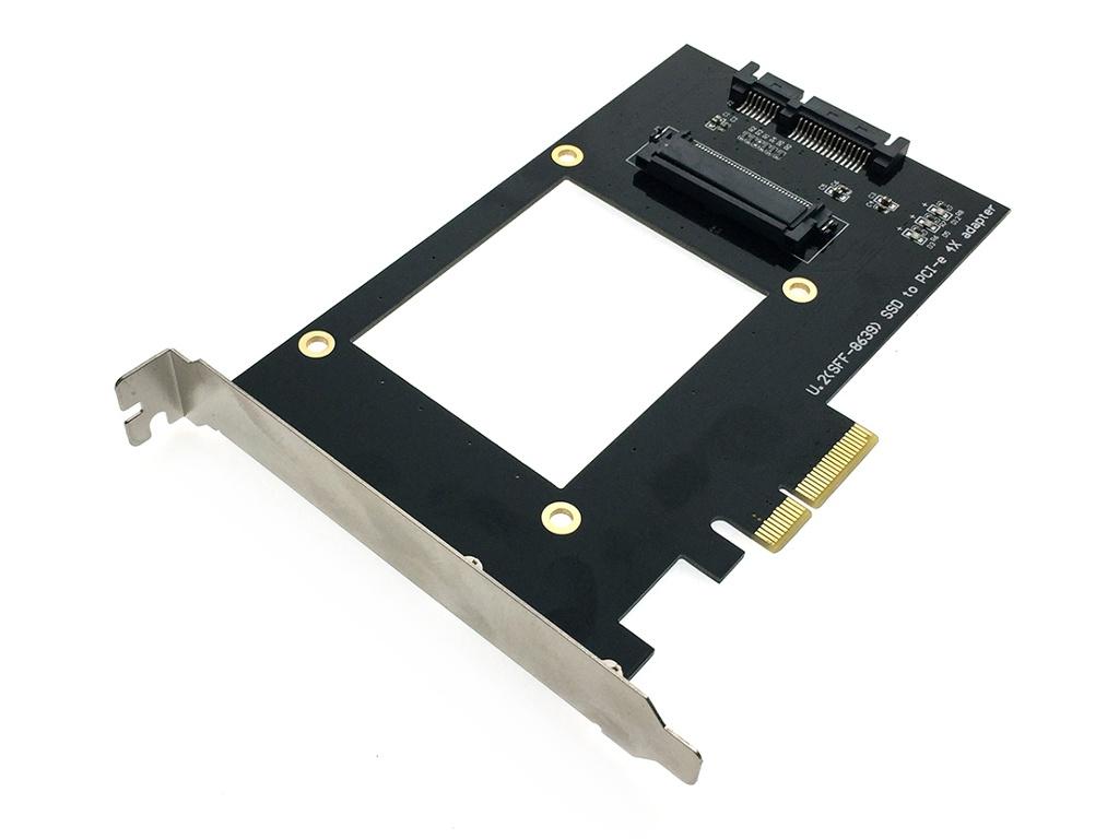 Контроллер Espada PCIeU2 PCI-E U2 SFF-8639 для NVMe SSD 44401