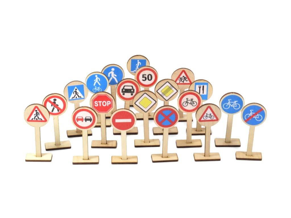 Развивающая игра Десятое Королевство Деревянные дорожные знаки 00728