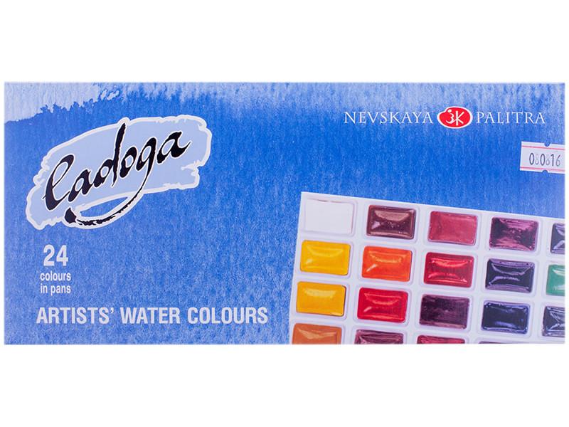Акварельные краски Невская Палитра Ладога 24 цвета 2041026